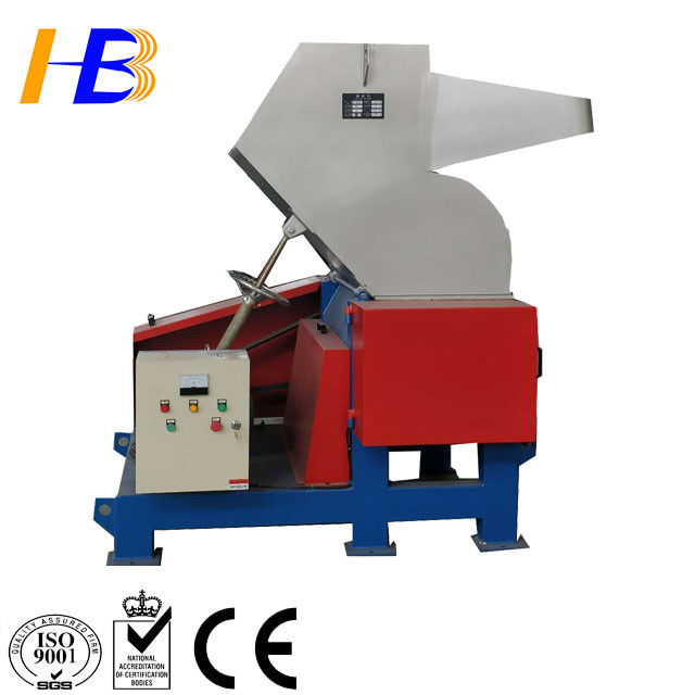 PC Lumps Scrap Plastic Crusher Machine With Steel Structure Tank / Cast Steel Knife Rest