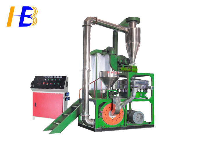 45kw Fine Rubber Grinder Mill , Mesh / Micron Size Vehicle Tire Grinding Machine