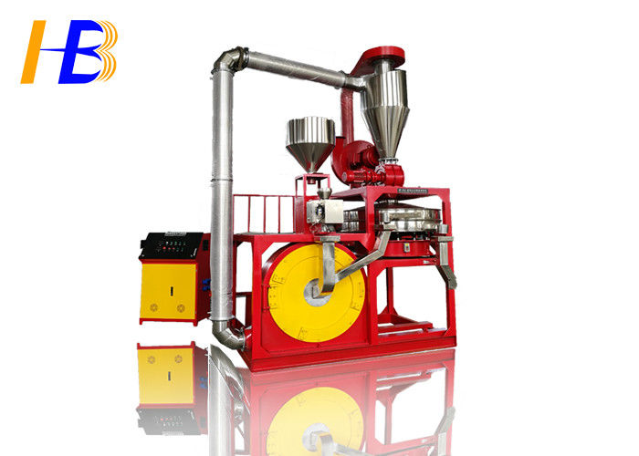 Low Noise 37kw Plastic Grinding Machine Plastic Disc Mill For Pom Hdpe